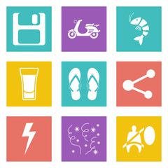 Color icons for Web Design set 27