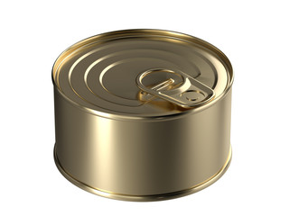 3D tincan rounded with