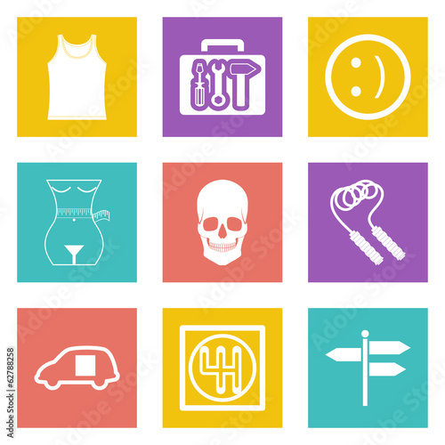 Color icons for Web Design set 28