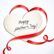 Happy Mother's Day - heart-shaped Greeting Card