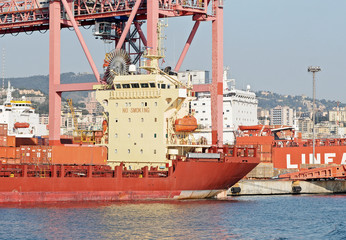 cargo ship in the port
