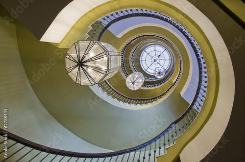 Fotobehang Vuurtoren / Mill Spiral stairs