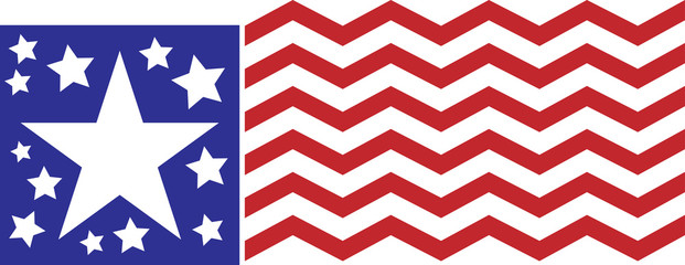 Chevron American Abstract Flag