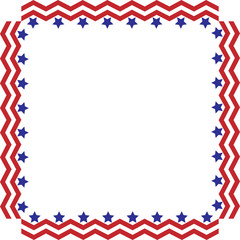 American Stars and Stripes Border