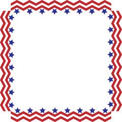 American Stars and Stripes Border