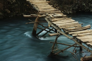 Flimsy wooden Bridge