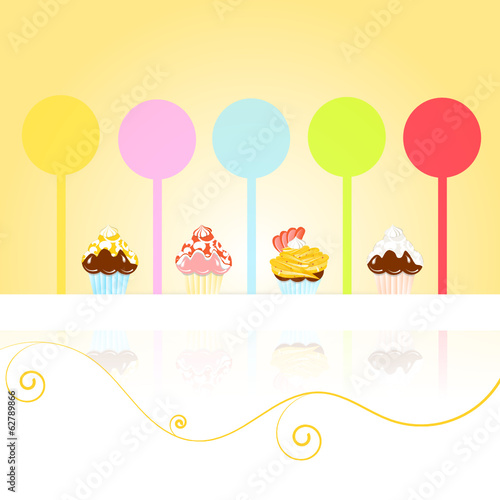 cake pops and muffins vektor