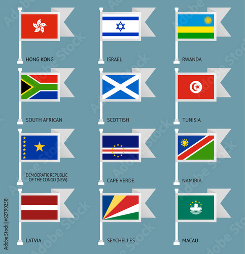 Flags set four-10