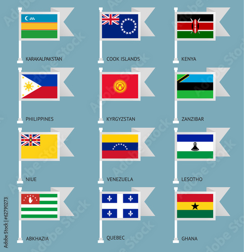 Flags set four-16