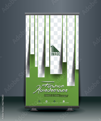 Hairdresser & Beauty Salon Roll Up Banner Design