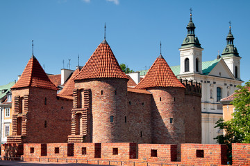 Warsaw City, Barbican,  tourist attraction in Poland