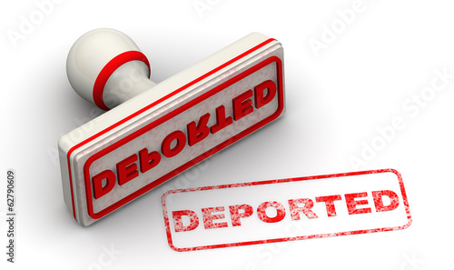 Deported. Seal and imprint
