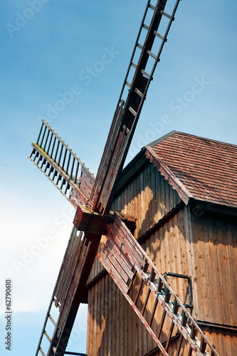 Windmill sails / Old wooden  windmill