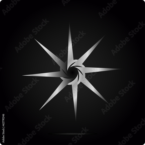 metal  logo design template