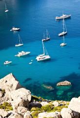 Yachts in Mallorca bay, Spain
