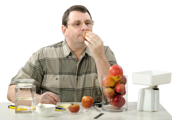 Phytocontrol expert smelling apples