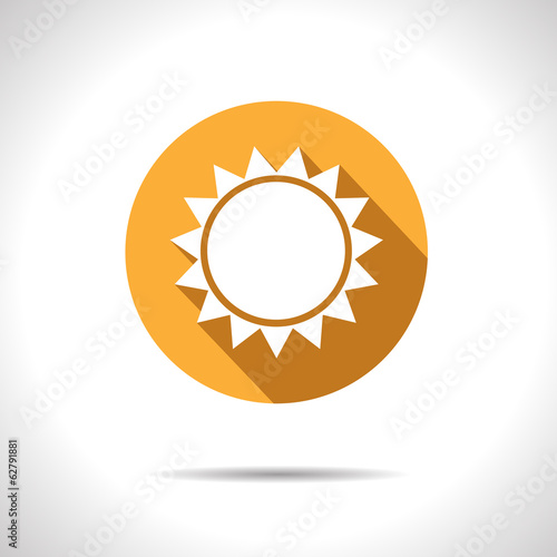 Vector sun icon. Eps10