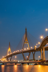 The Bhumibol Bridge (also known as the Industrial Ring Road Brid