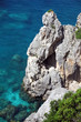 Rocks and sea. Beauty Corfu Island nature. Greece.