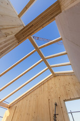 Open roof under blue sky