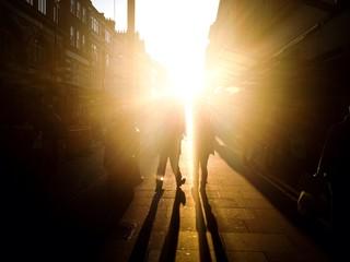 stadtimpression bei gegenlicht