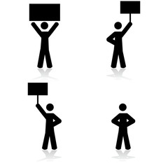 Protest icons