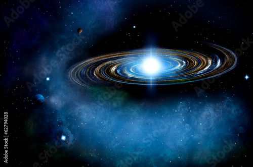canvas print picture Distant Spiral Galaxy
