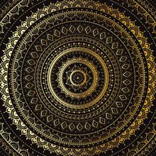 Or Mandala. Motif décoratif indien.