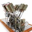 8-Zylinder Dampfmaschine