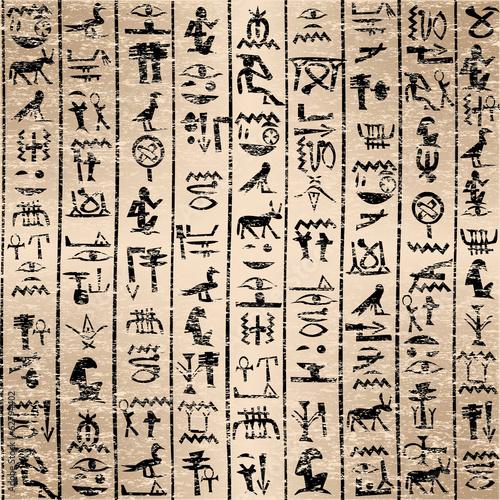 Egyptian hieroglyphics grunge background - 62794402