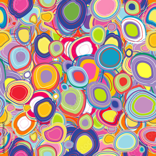 Background with colored circles