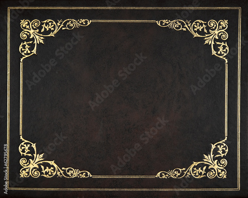 Foto op Plexiglas Stof Dark leather cover