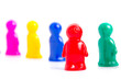 Diversity and Teamwork - Colorful toy people group