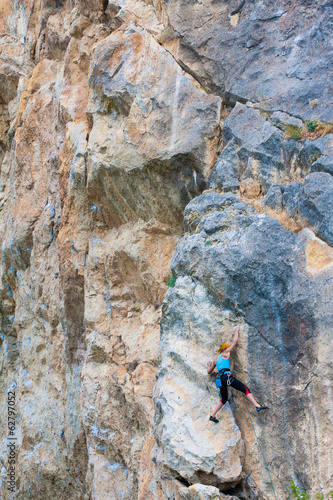 Young female climber