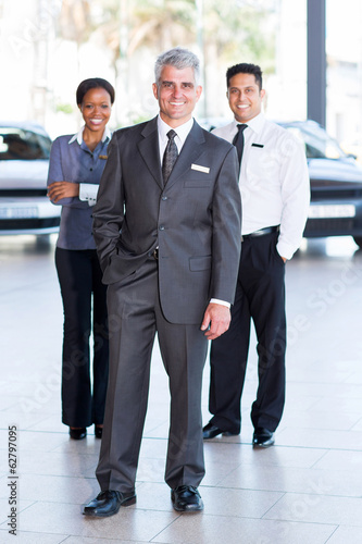 sales staff at a car dealership