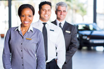 multiracial vehicle sales team