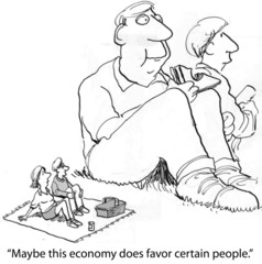 Economy favors certain people
