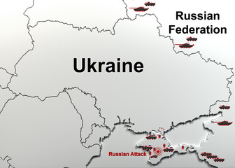 Attack on a military unit in Crimea. Map.