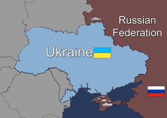 Russian military forces in Ukraine(Crimea). Map.