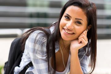 pretty female college student