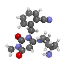 Alogliptin diabetes drug molecule.