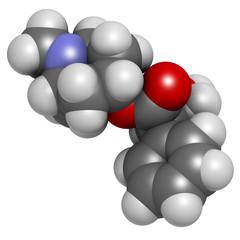 Atropine deadly nightshade (Atropa belladonna) alkaloid molecule