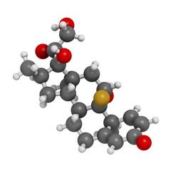 Dexamethasone glucocorticoid drug. Steroid drug.