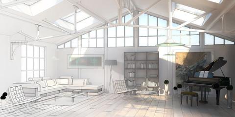 Cottage Loft (construction)