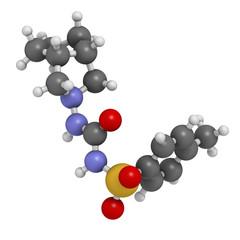 Gliclazide diabetes drug molecule