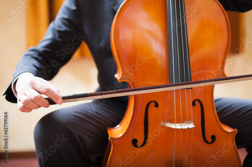 Man playing a cello