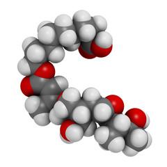 Mupirocin (pseudomonic acid) antibiotic drug molecule.