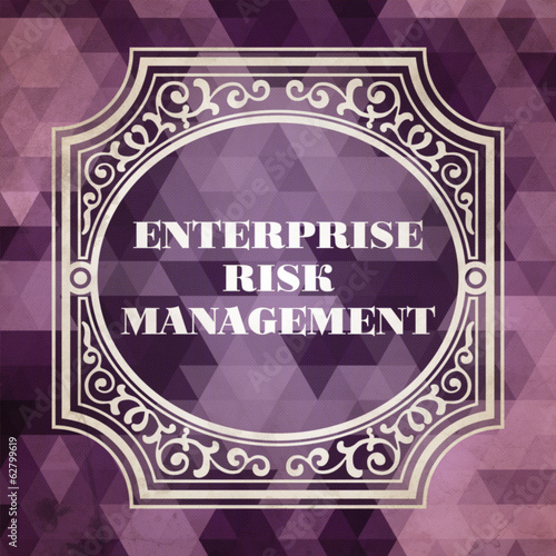 Enterprise Risk Management. Vintage Concept.