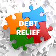 Debt Relief on Multicolor Puzzle.