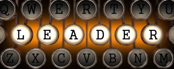 Leader on Old Typewriter's Keys.
